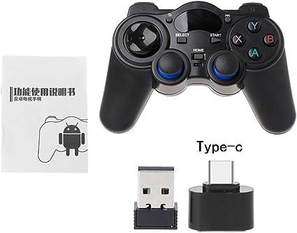 TY-UNLESS - Mando inalámbrico para videojuegos, 2,4 G, mando para androide Tablet PC Smart TV, 2, tamaño único: Amazon.es: Hogar