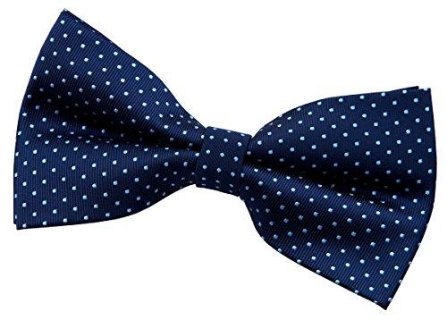 Retreez Modern Mini Polka Dots Woven Microfiber Pre-tied Bow Tie (5