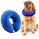 Royalsell Dog Cone Collar, Protective Inflatable Collar for Dogs and Cats - Pet Recovery Collar Does Not Block Vision E-Collar (Large)