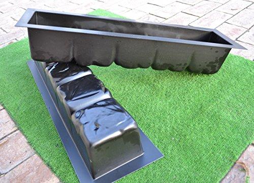 Amazoncom PIECES EDGE STONE CONCRETE MOLDS EDGING BORDER - Concrete lawn edging molds