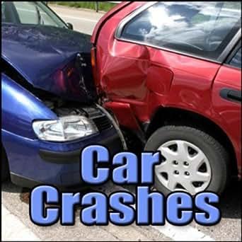 Auto Crash Car Impact Into Brick Wall Tire Screech
