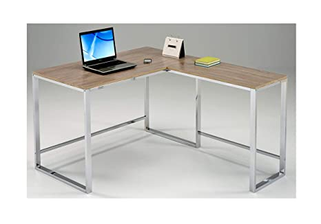 Bureau dangle réversible 120 cm meuble de travail informatique