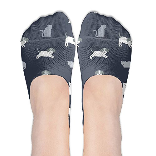 Low Cut Sand Socks Cat Colored Cute Compression No Show Socks Women's Anti Slip Large For - Sand Cat Colored