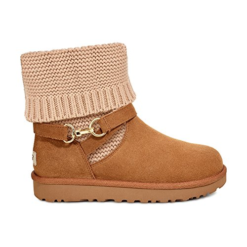 Femme Marron Botin pour Purl UGG Sangle aqI61