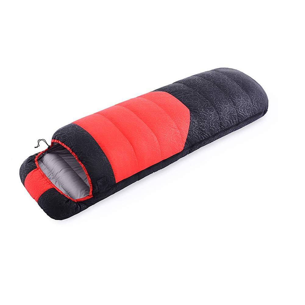 寝袋、-5 25° c 封筒ポータブル睡眠袋防水軽量睡眠パッドイージーケア屋外キャンプ睡眠袋,Red,210*80cm B07MJ2ZKQF Red 210*80cm