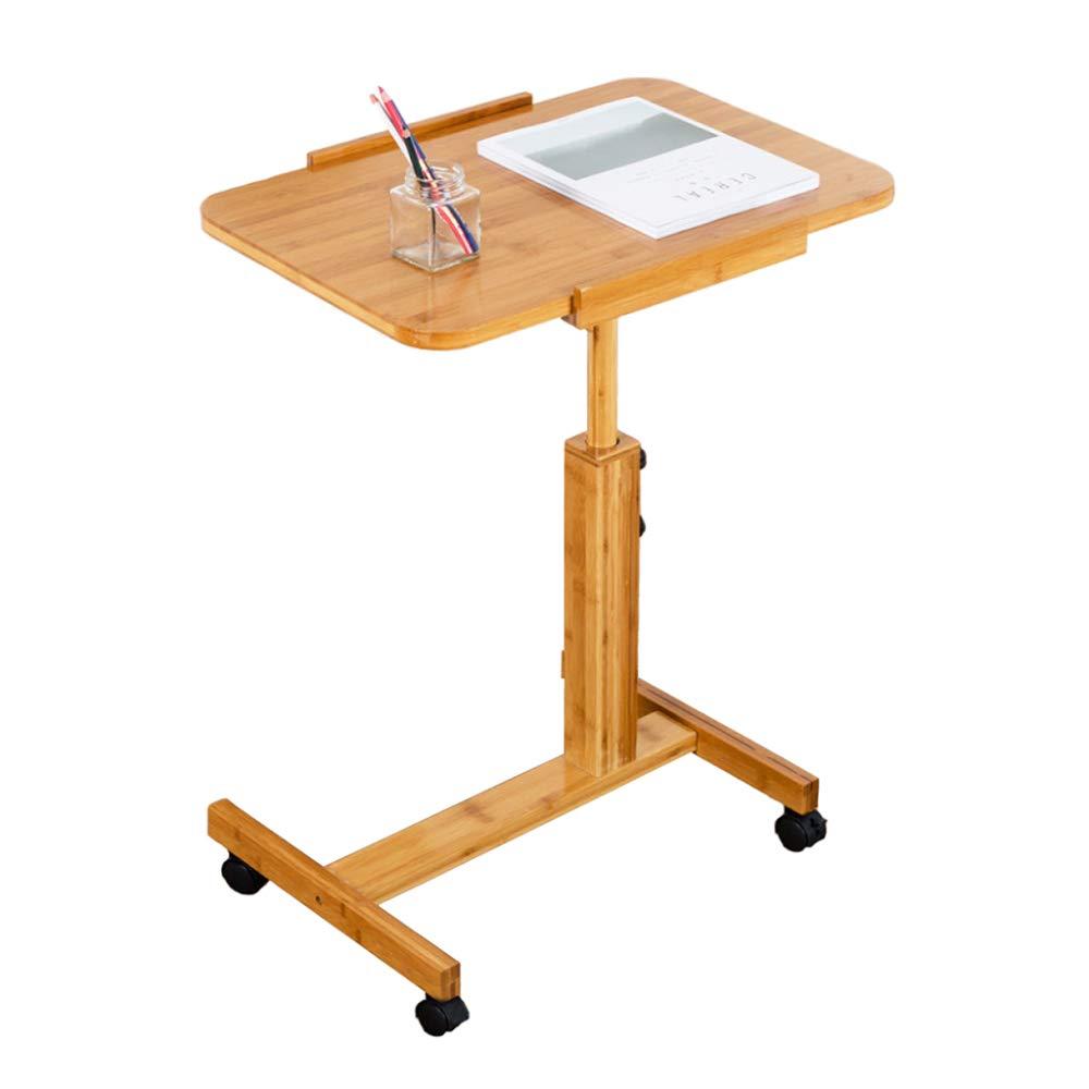 LIULIFE Adjustable Stand Deak Mobile Laptop Computer Desk Workstation Living Room Bedroom Bedside Table,5070cm