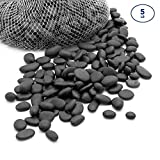 Royal Imports 5lb Mini Decorative Ornamental River Pebbles Rocks for Landscaping, Home Decor etc. (Not for Aquariums) with Netted Bag, Black