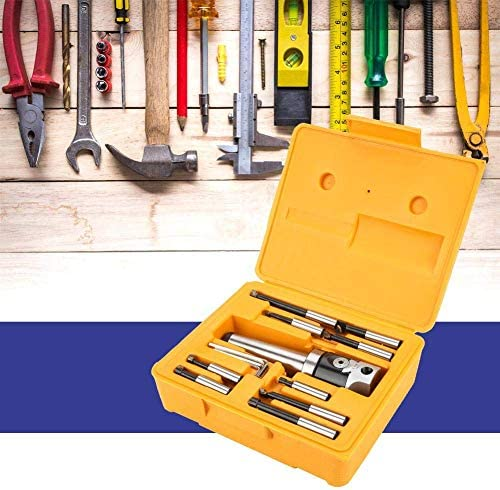 Drill Bits, Arbor Adapter Set, Durable Power MT4-M 16 Arbor Adapter Taper Shank 50mm Boring Head 9pcs 12mm Boring Bar Kit Repalcement Accessories for CNC Machine Cutting Burs