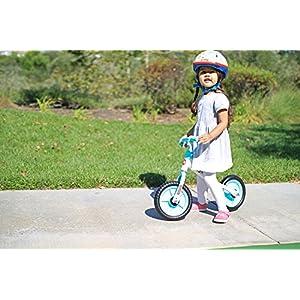 "Fisher Price 10"" Balance Bike, White/Blue"