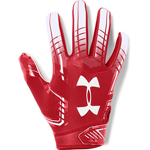 Under Armour boys F6 Youth Football Gloves Red (600)/White Youth