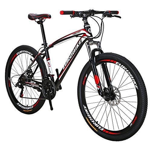EUROBIKE-X1-Mountain-Bike-21-Speed-MTB-Bicycle-275-Inch-Wheels-Suspension-Fork-Mountain-Bicycle