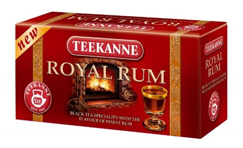 Teekanne Royal Rum black tea imported from Europe- 20 tea bags-Shipping from USA (Black Drinks Rum)