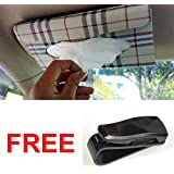 Lifestyle-You™ Value Combo of Car Tissue Holder Box + Car Sunglass Holder