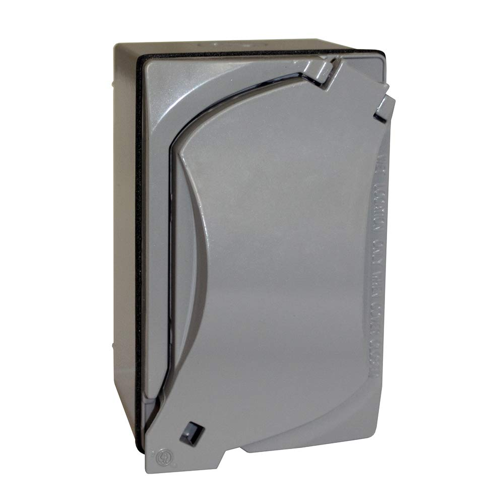 Sigma Electric 16449 Kit of Rectangular Box Cover and GFCI Receptacle Grey