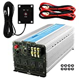 GIANDEL 5000Watt Power Inverter 24V DC to 120V AC with 20A Solar Charge Control and 4xAC 110-120V US Outlets and 1x2.4A USB and Remote Control