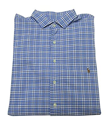 Polo Ralph Lauren Mens' Big and Tall Long Sleeve Oxford Shirt Estate Spread Collar