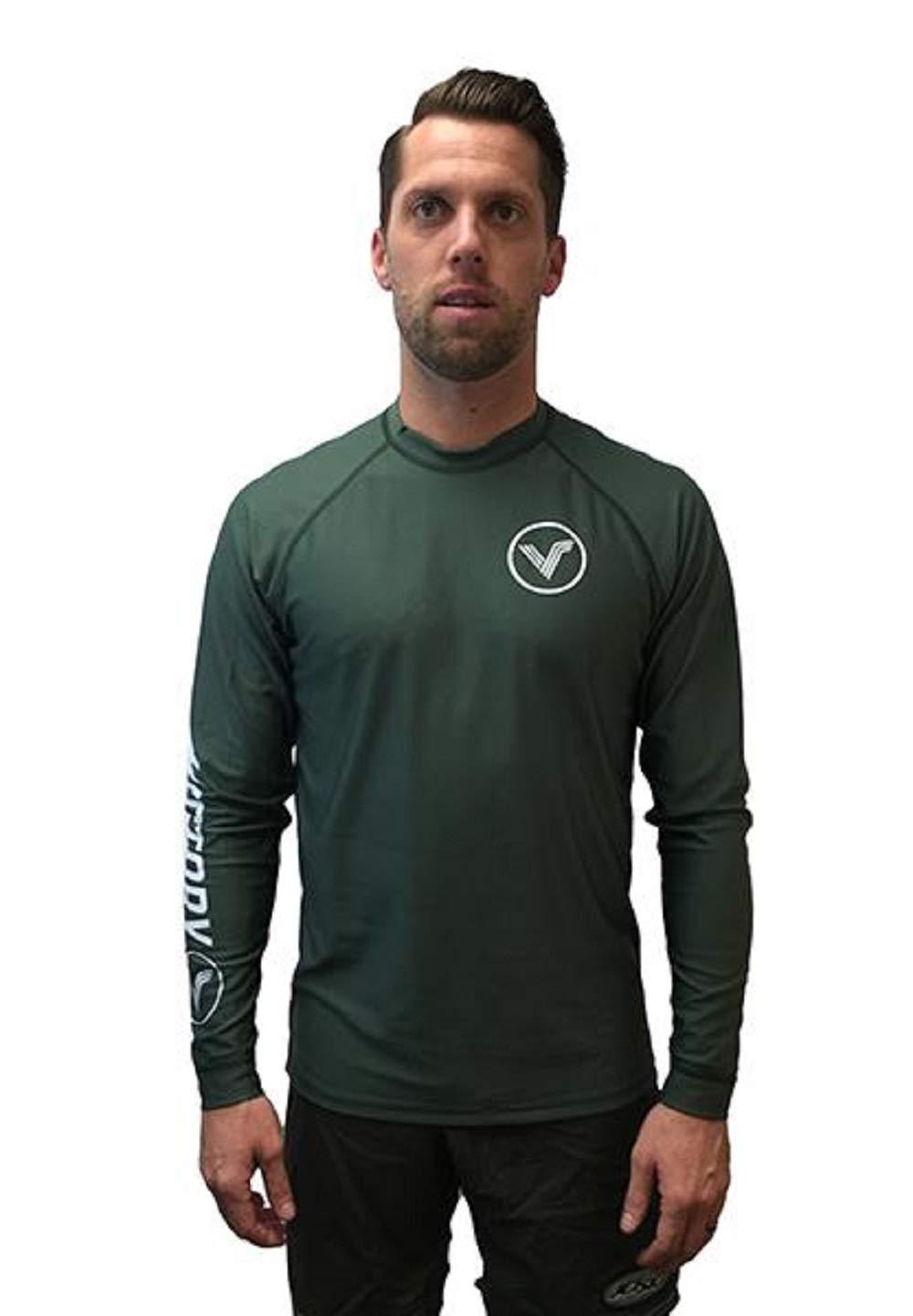 KoreDry Victory Men's Long Sleeve T-Shirt - Water-Resistant UPF 50+ Sun Protection/Block, Medium, Dark Green