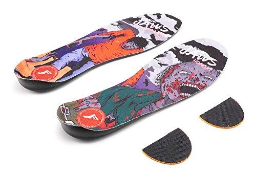 Footprint Kingfoam Elite Jaws Zombie Pro Insoles Large + Painkillers Socks Gift Set UK 7-12 eoRUxbk