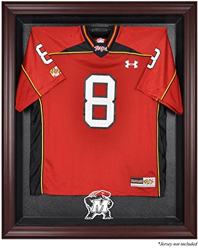 Maryland Terrapins Mahogany Framed Logo Jersey Display Case by Sports Memorabilia