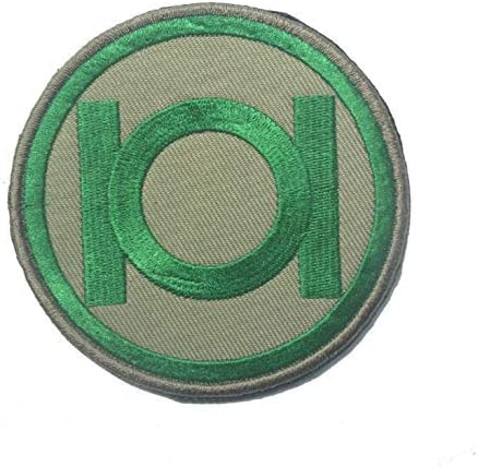 Green Lantern Green on Black Symbol Embroidered Patch