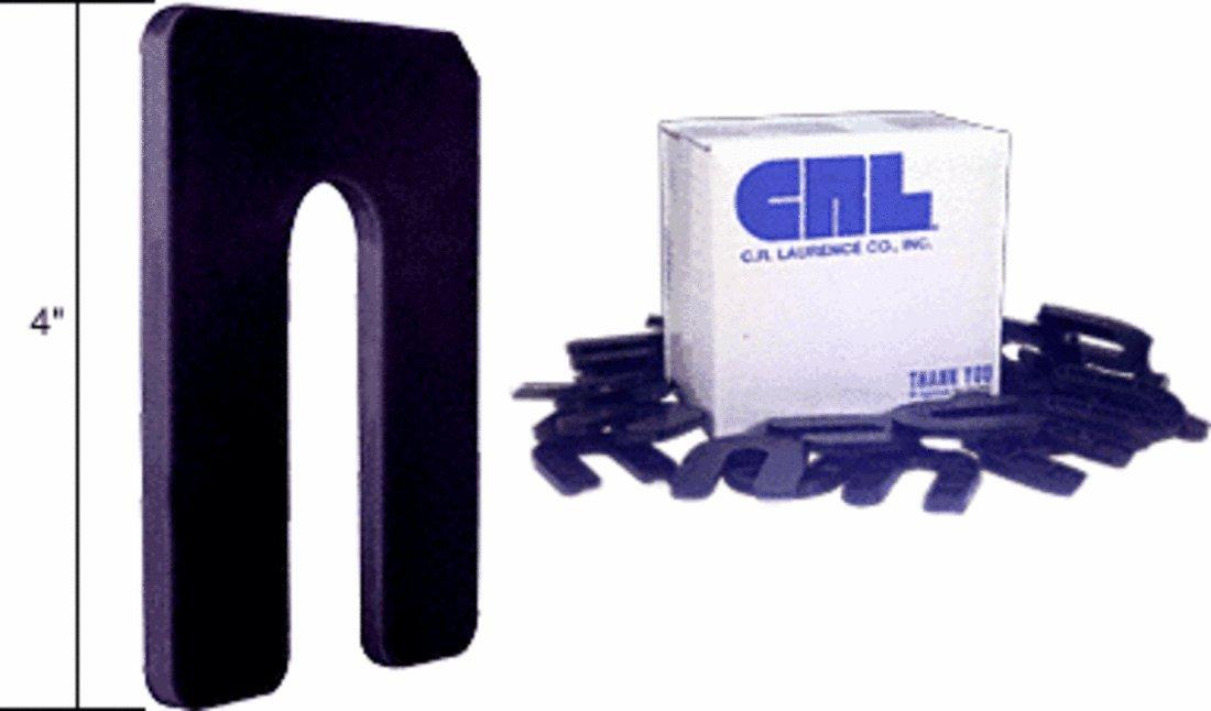 CRL Black 1/4'' x 4'' Jumbo Horseshoe Shims Pack of 100