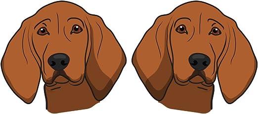 MY REDBONE COONHOUND NOSE ART DOG STICKER