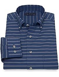 """<span class=""""a-offscreen"""">[Sponsored]</span>Men's Cotton Horizontal Stripe Sport Shirt"""