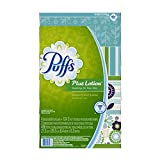 Puffs Plus Lotion Facial Tissues, 4 Family Boxes, 124 Tissues per Box-Packaging may vary.