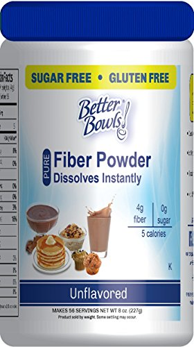 Better Bowls Unflavored Fiber Powder, Sugar Free, Gluten Free, Instant, 56 servings, 8 oz ()