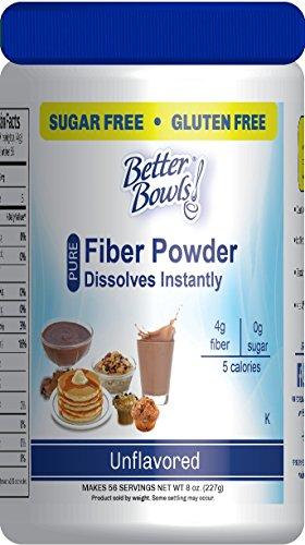 Better Bowls Unflavored Fiber Powder, Sugar Free, Gluten Free, Instant, 56 servings, 8 oz