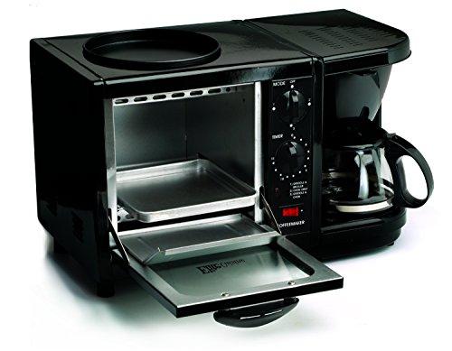 Elite Cuisine EBK-200B Maxi-Matic 3-in-1 Multifunction Breakfast Center, Black - smallkitchenideas.us