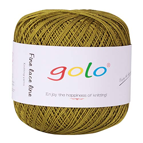 Cross Hardanger - Crochet Thread Yarns for Begingers Size6-100% Contton Yarn for Knitting Crochet DIY Hardanger Cross Sitch Crochet Thread Balls Rainbow Turquoise 39 Colors Avilable (Army Green)