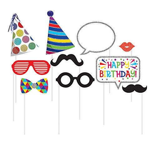 10 Piece Assorted Photo Booth Birthday