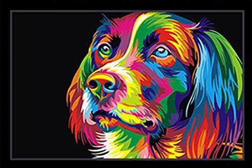 mejor calidad mejor precio Liliya&& Tinta DIY Dibujo Dibujo Dibujo Tinta Acuarela Digital Azul Abstracto Creativo Genegroso sin Marco, Color dog-5476, 30  45cm+ blanco Frame  increíbles descuentos