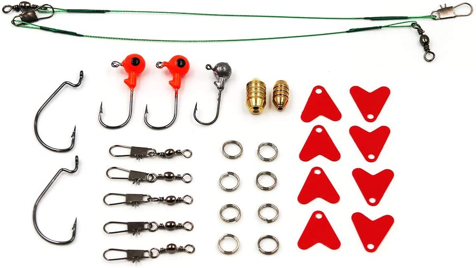 Topwater Frog Lures 234pcs Including Crankbaits Soft Plastic Worms Fishing Gear Equipment with Free Tackle Box Saltwater Fishing Lures Kit Set for Bass