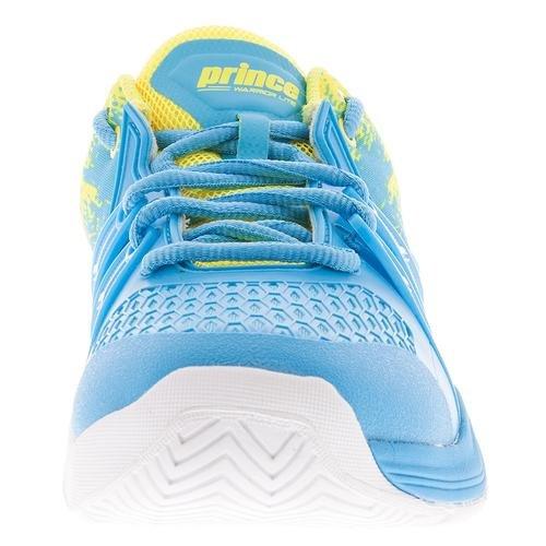 Prince Damen Warrior Lite Tennis Sneaker Schuhe Blau Gelb