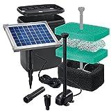 Solar-Teichfilterset-Starter-470-lh-Frderleistung-5-W-Solarmodul-Komplettset-bis-2000l-Gartenteich-101065