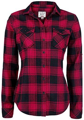 black Red Amy Damenhemd Flanell Brandit gqIwnZYpI