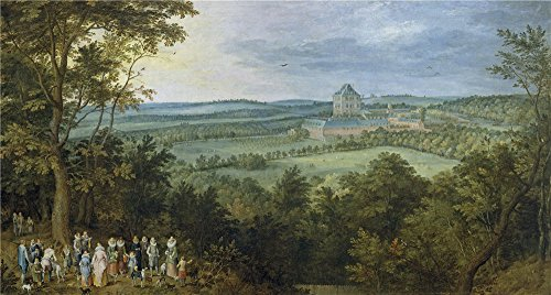 Perfect Effect Canvas ,the Beautiful Art Decorative Canvas Prints Of Oil Painting 'Brueghel The Elder Jan The Archdukes Hunting Ca. 1611 ', 18 X 34 Inch / 46 X 85 (Cinema Costume Ban)