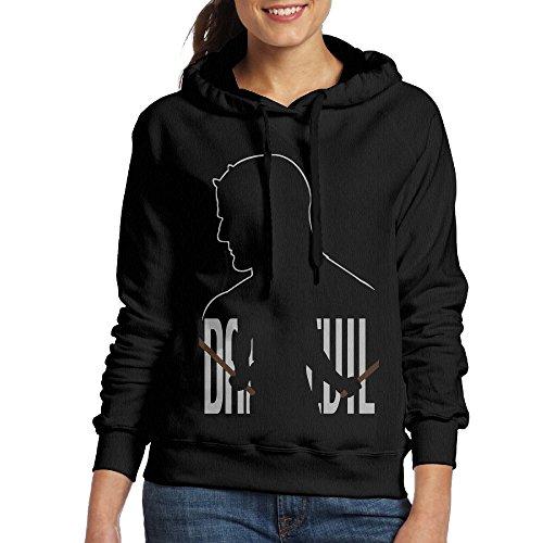 Bekey Women's Daredevil 9 Hoodie Sweatshirt XL Black - Daredevil Costume Design