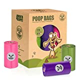 Dog Poop Bag, Unscented Dog Waste Bags 270-Count with Three Colors, Biodegradable Pet Waste Bags with EPI Additive, Leak-Proof & Easy Tear-off Doggie Poop Bags, 18 Refill Rolls, Fit Standard Dispenser
