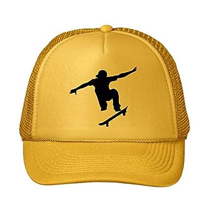 18376221efd89 Amazon.com: Fashion Skateboarder Yellow Snapback Cap Hat Men's ...