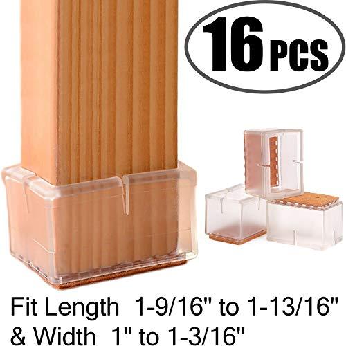 - Chair Leg Floor Protectors Rectangular Fit Length 1-9/16