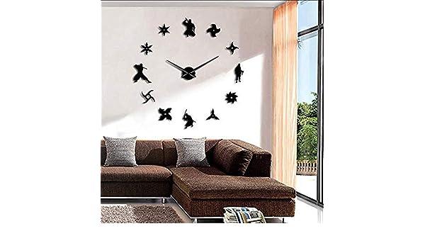 BBNNN Ninja DIY Reloj de Pared Gigante Guerrero japonés con ...