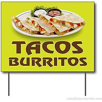 Tacos Burritos Curbside Sign, 24