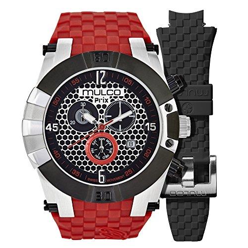 MULCO Men's MW5-3068-065 Prix Snap Analog Display Swiss Quartz Red Watch