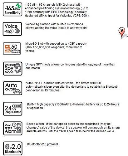 amazon com columbus v 900 bluetooth gps data logger 66 channels rh amazon com