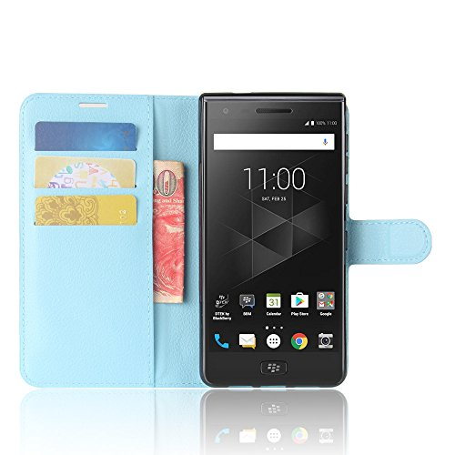 BlackBerry Motion Funda Faux Cuero Billetera Funda para BlackBerry Motion con Stand Función(Negro) Azul