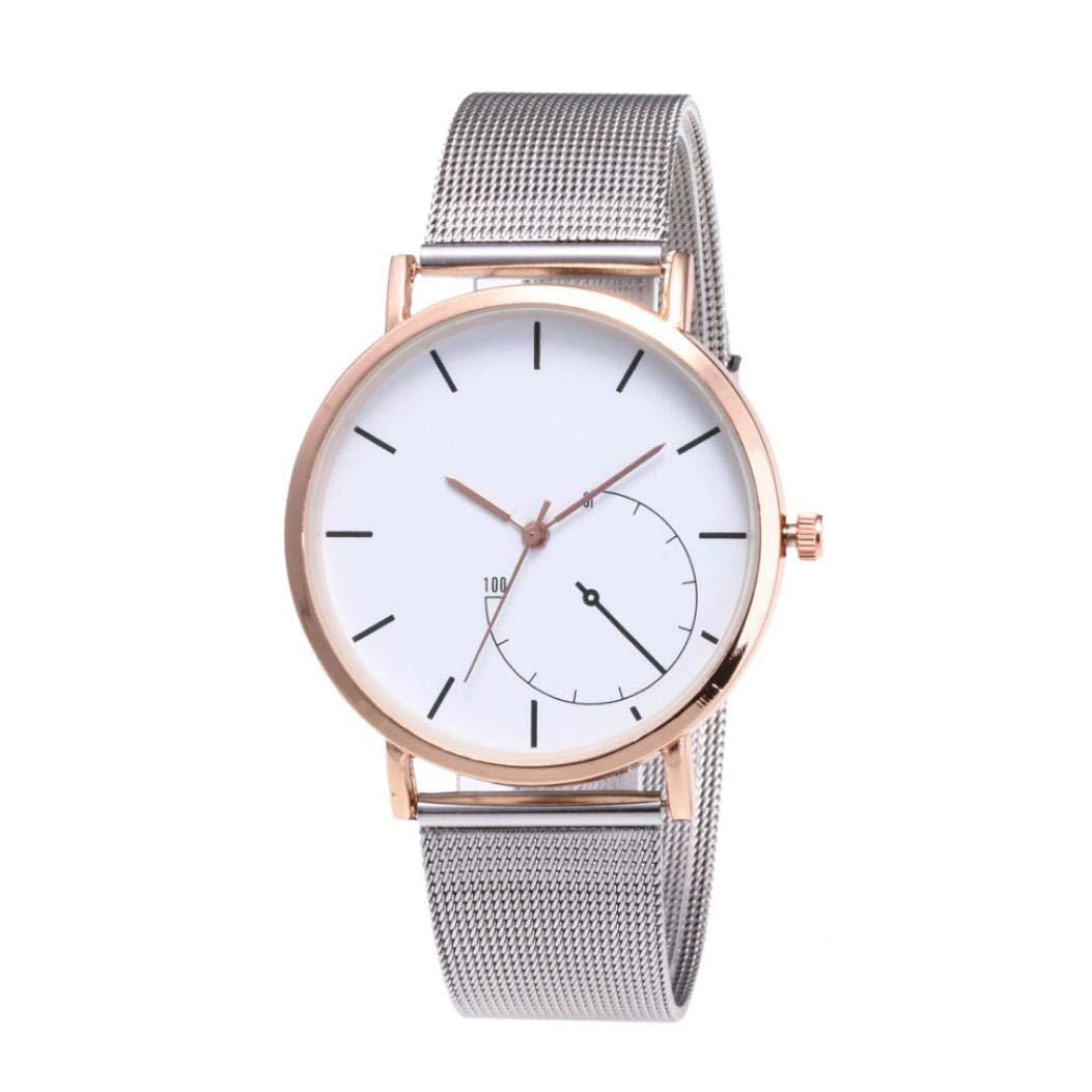 Amazon.com: Womens Watch,Classic Quartz Stainless Steel Wrist Watch Mesh Bank Business Bracelet Watch Axchongery (Black, 1PC): Clothing