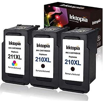 Amazon.com: Pack de 3 Remanufacturado Canon PG-210 X L ...